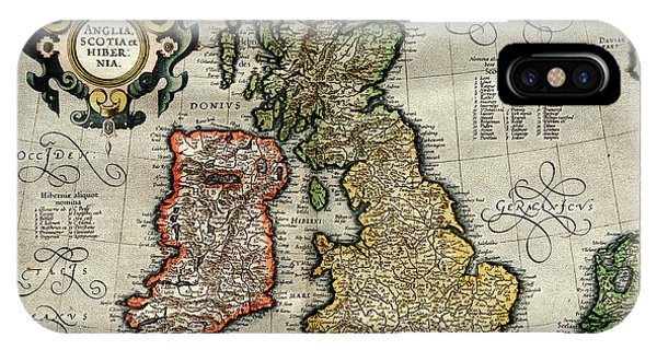Northern Scotland iPhone Case - Ireland And Britain by Library Of Congress, Geography And Map Division