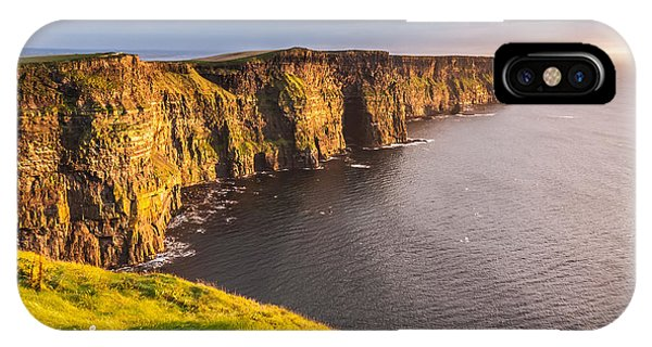 IPhone Case featuring the photograph Ireland's Iconic Landmark The Cliffs Of Moher by Pierre Leclerc Photography