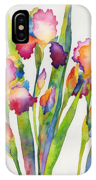 Bloom iPhone Case - Iris Elegance by Hailey E Herrera