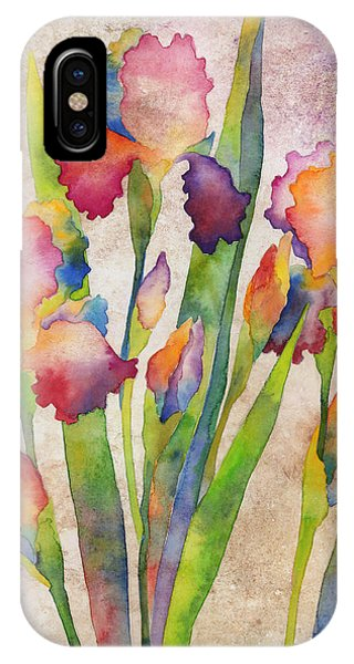 Bloom iPhone Case - Iris Elegance On Pink by Hailey E Herrera