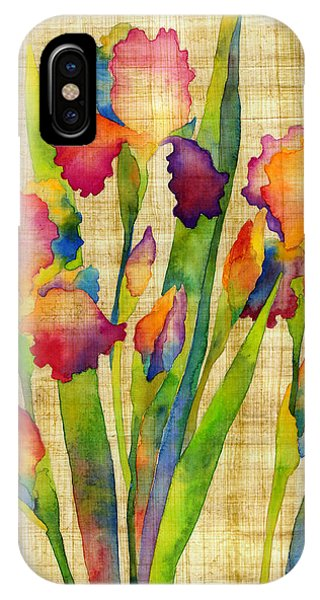 Bloom iPhone Case - Iris Elegance On Yellow by Hailey E Herrera