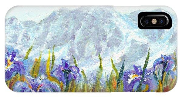 Iris Field In Alaska IPhone Case