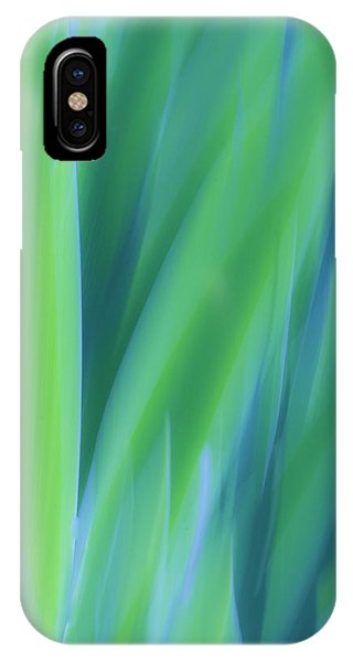 IPhone Case featuring the photograph Iris Foliage Abstract by Sherri Meyer
