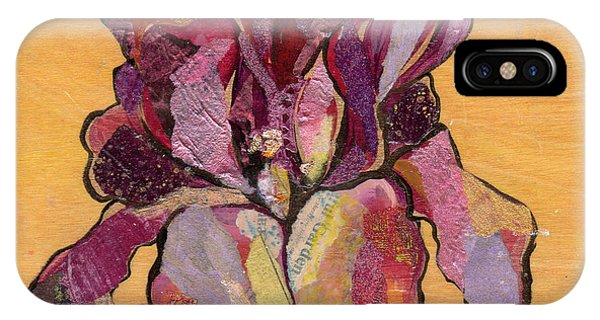 Floral iPhone X Case - Iris V  - Series V by Shadia Derbyshire