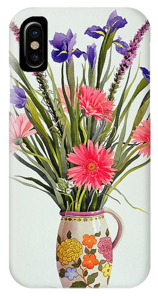 Representation iPhone Case - Irises And Berbera In A Dutch Jug by Christopher Ryland