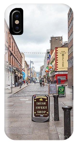 Road Signs iPhone Case - Irish Sweet Shop by Evelina Kremsdorf