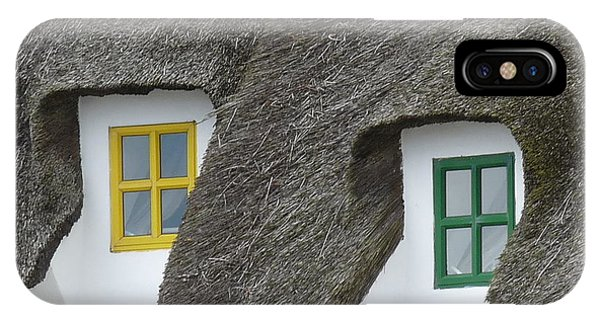 Irish Thatch Cottage Colored Windows Phone Case by Patrick Dinneen