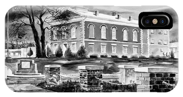 Courthouse iPhone Case - Iron County Courthouse IIi - Bw by Kip DeVore