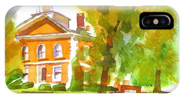 Courthouse iPhone Case - Iron County Courthouse In Watercolor by Kip DeVore