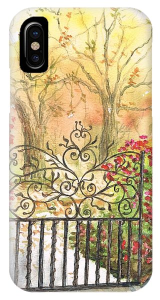 Iron Door In West Hollywood - California IPhone Case