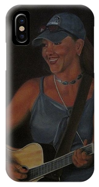 IPhone Case featuring the painting Iron Missy by Tammy Taylor