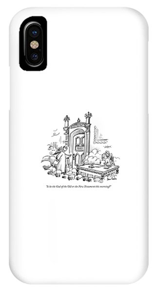 Is He The God Of The Old Or The New Testament IPhone Case