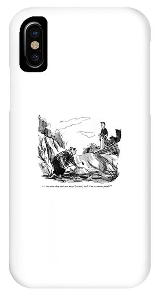 Is That What They Teach You At Caddy School IPhone Case