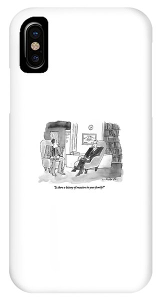 Debts iPhone Case - Is There A History Of Recession In Your Family? by W.B. Park
