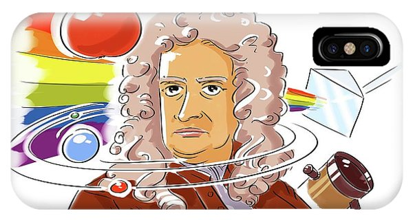 Calculus iPhone Case - Isaac Newton by Harald Ritsch