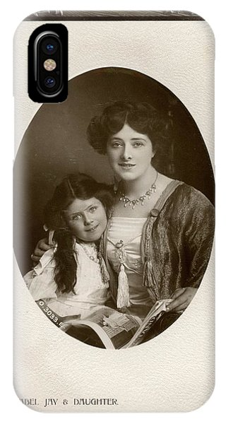 Child Actress iPhone Case - Isabel Jay (1879 - 1927),  Actress by Mary Evans Picture Library