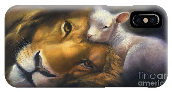 Lion iPhone Case - Isaiah by Charice Cooper