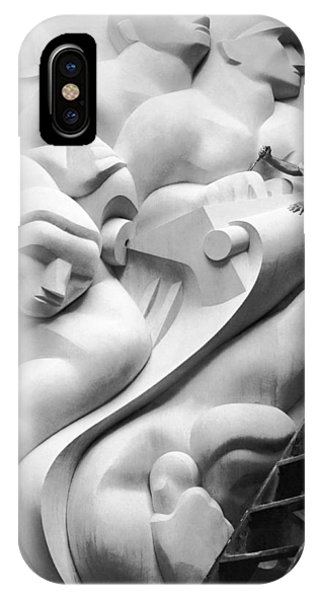 Stainless Steel iPhone Case - Isamu Noguchi Working by Underwood Archives