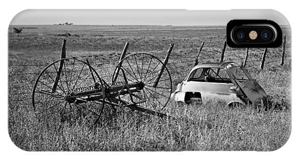Isetta And Hay Rake IPhone Case