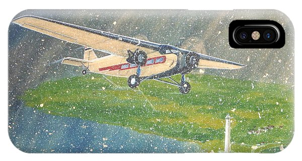 Island Airlines Ford Trimotor Over Put-in-bay In The Winter IPhone Case