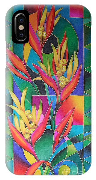 Island Flowers - Heliconia IPhone Case
