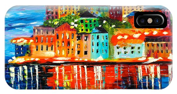 IPhone Case featuring the painting Island Lights by Kevin  Brown
