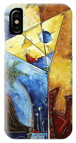 Martini iPhone Case - Island Martini  Original Madart Painting by Megan Duncanson