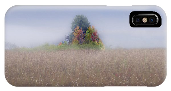 Island Of Color In Sea Of Fog IPhone Case