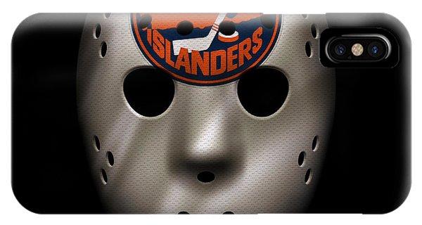 Islanders iPhone Case - Islanders Jersey Mask by Joe Hamilton