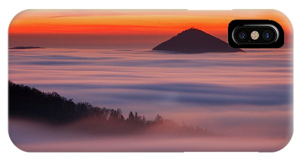Orange Color iPhone Case - Islands In The Clouds by Martin Rak