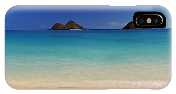 Oahu iPhone Case - Islands In The Pacific Ocean, Lanikai by Panoramic Images