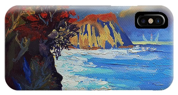 Islands Seascape Original Oil Painting IPhone Case