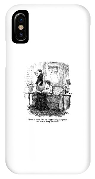 George Bush iPhone Case - Isn't It About Time We Stopped Being Reaganites by Robert Weber