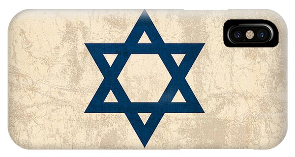 Flag iPhone Case - Israel Flag Vintage Distressed Finish by Design Turnpike