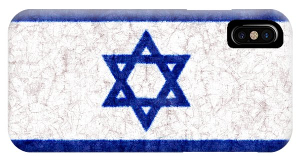 Israel Star Of David Flag Batik IPhone Case