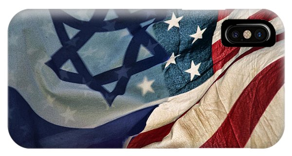 Israeli American Flags IPhone Case