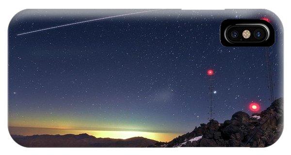 Earth Orbit iPhone Case - Iss Crossing The Night Sky by Babak Tafreshi