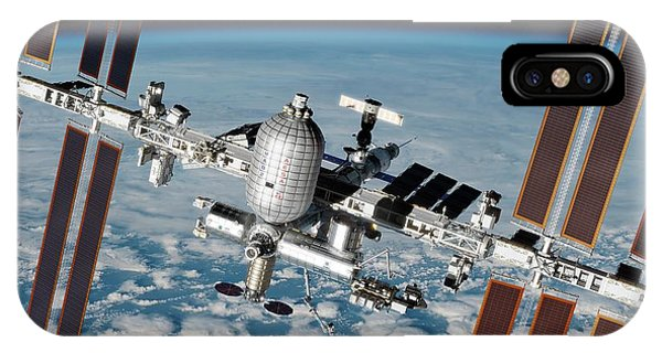 International Space Station iPhone Case - Iss Inflatable Habitat by Nasa/walter Myers/science Photo Library