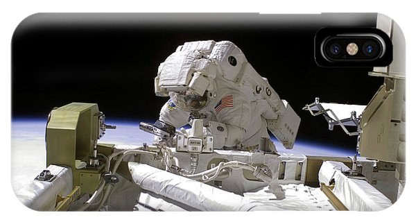 International Space Station iPhone Case - Iss Spacewalk by Nasa/science Photo Library