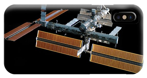 International Space Station iPhone Case - Iss With New Solar Panels by Nasa/science Photo Library