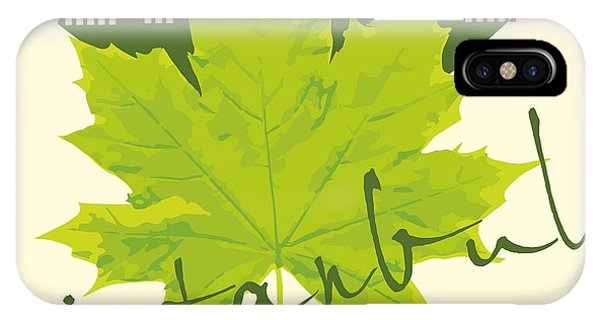 Turkey iPhone Case - Istanbul City And Sycamore Leaf Vector by A1vector