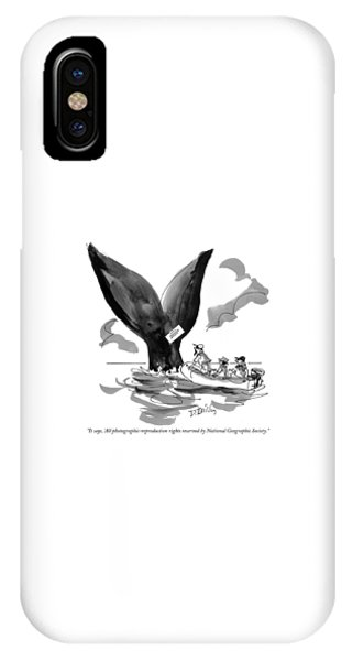 Magazine Cover iPhone Case - It Says, 'all Photographic-reproduction Rights by Donald Reilly