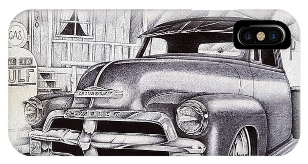 Old Chevy Truck iPhone Case - It Was 1954 by Omar Boke
