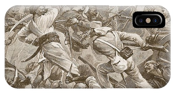 British Empire iPhone Case - It Was Bayonet To Bayonet, Illustration by Alfred Pearse