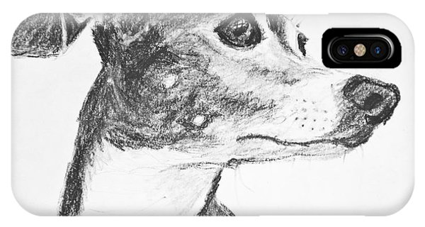 Italian Greyhound Sketch In Profile IPhone Case