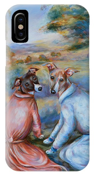 Italian Greyhounds Renoir Style IPhone Case