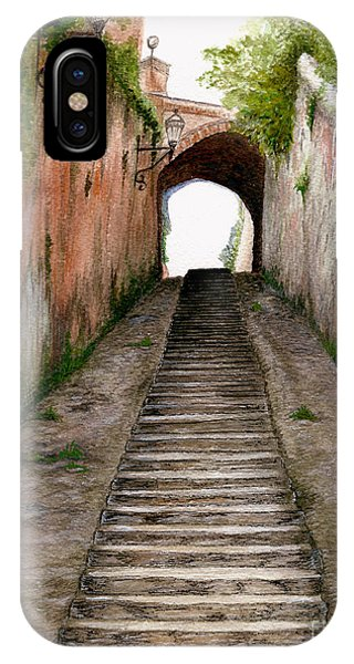 Italian Walkway Steps To A Tunnel IPhone Case