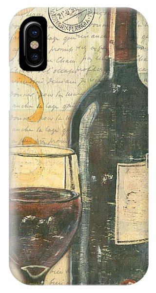 Beverage iPhone Case - Italian Wine And Grapes by Debbie DeWitt