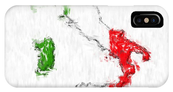Italy Painted Flag Map IPhone Case