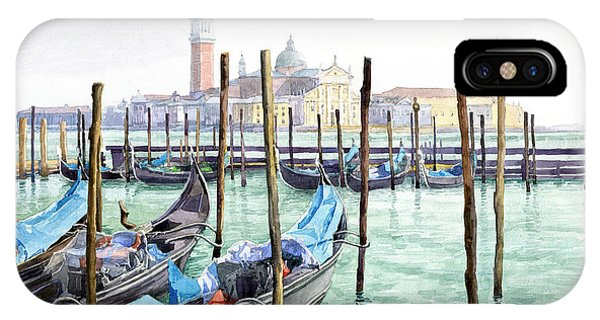 Italy Venice Gondolas Parked IPhone Case